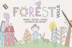 Forest Walk Collection by Julia Dreams on @creativemarket
