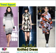 High-Neck Knitted Dress #Fashion Trend for Fall Winter 2014 #Fall2014 #Fall2014Trends #FashionTrends2014
