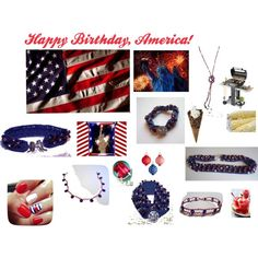 """RED WHITE & BLUE PATRIOT COLLECTION"" by deepbluesealove on Polyvore"