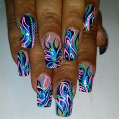 Fantasy Blu by joyofnails - Nail Art Gallery nailartgallery.nailsmag.com by Nails Magazine www.nailsmag.com #nailart