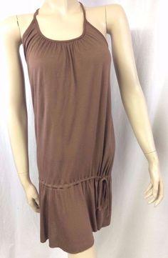 Zinc Brown Tunic Top Ladies Large 100% Modal Sleeveless Blouson Summer Spring  #Zinc #KnitTop #Casual