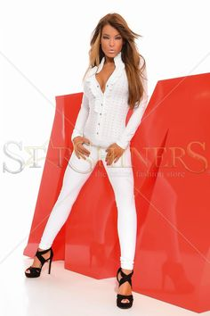 MissQ Sweet Tripping White Jumpsuit