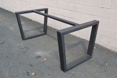 Custom Made Industrial Style Steel Table Base $550 Could be used for a concrete top