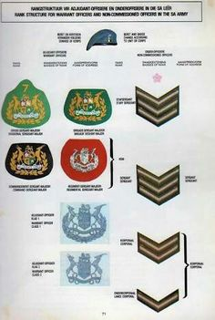 Military Ranks, Military Insignia, Military History, Warrant Officer, Army Day, Afrikaans Quotes, Training And Development, Defence Force, Tactical Survival