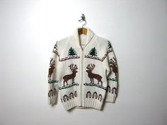 vintage thick knit zip up sweater coat // by dirtybirdiesvintage, $75.00