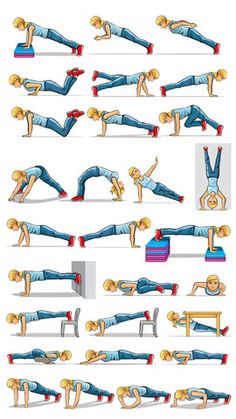 Push up Fitness Exercises - Upper Body Strength Workouts 1.0