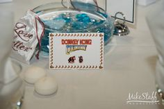 Donkey Kong themed wedding centerpiece   #wedding #reception #decorations #centerpieces #tablescapes #receptiondetails #Michiganwedding #Chicagowedding #MikeStaffProductions #wedding #reception #weddingphotography #weddingdj #weddingvideography #wedding #photos #wedding #pictures #ideas #planning #DJ #photography