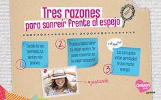 Se me ocurren varias razones más para sonreír frente al espejo! #Quiérete  - Cyzone