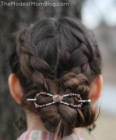 DIY Hair style - Braided Hair with Flexi Clip
