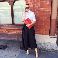 Global Head of Personal Shopping Lupe Puerta works the pant silhouette of the season at #LFW! Follow her stylish lead and pair #Tibi's culottes with #Givenchy sandals and #fashionweek essential, #LeSpecs sunglasses. Steal her #style at #NETAPORTER #SeeitLoveitBuyit (at London Fashion Week)