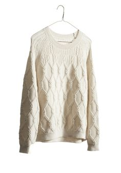 Cable Sweater by Nili Lotan. I just love cozy white sweaters