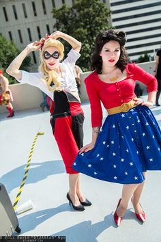 Harley Quinn and Wonder Woman