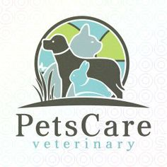Pets Care Veterinary logo I like these colors and the design