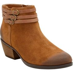 Clarks Women's Gelata Siena Tan Suede Boots (72.375 CLP) ❤ liked on Polyvore featuring shoes, boots, ankle booties, ankle boots, clarks booties, tan suede ankle booties, short boots and tan booties