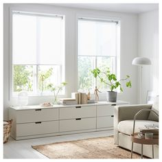 IKEA offers everything from living room furniture to mattresses and bedroom furniture so that you can design your life at home. Check out our furniture and home furnishings! Grey Roller Blinds, Roller Shades, Ikea Roller Blind, White Blinds, Rollo Design, Ceiling Materials, Ikea Family, Shades Blinds, Blinds For Windows