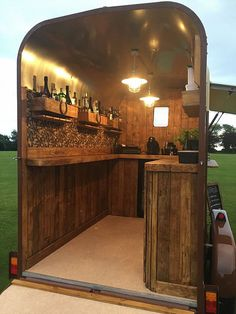 The Tipsy Mare - Travelling Horsebox Bar Come and see our new website at bakedco. The Tipsy Mare - Catering Trailer, Food Trailer, Converted Horse Trailer, Bagdad Cafe, Foodtrucks Ideas, Horse Box Conversion, Coffee Food Truck, Coffee Trailer, Mobile Catering