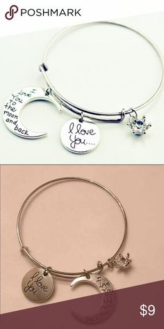 Love Charms Bangle Alex and Ani Style  Sterling Silver  Firm Price  Please rate as soon as you receive the item Jewelry Bracelets