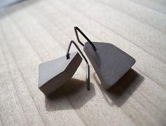 Geometric Concrete - Earrings. $15.00, via Etsy.