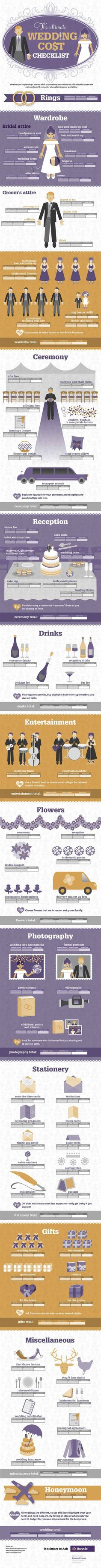 All the diagrams you need to plan your wedding!