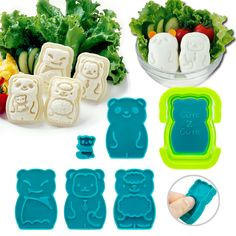 Animal Palz Mini Sandwich and Egg Press   CuteZCute Bento Fun Lunch Cutters, Egg Molds, and Bento Boxes