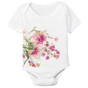Wildflowers Organic Cotton Baby Bodysuit from Spunky Stork