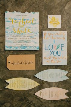 I am still on a Siargao hangover and this wedding invitation suite gets me stoked like riding a wave!  Photo by: Marlon Capuyan Photography       #calligraphy #calligraphyph #flourishforum #brushcalligraphy #handwriting #handwritten #cebucalligraphy #calligrapher #watercolor #brushcalligraphyph #calligraphycebu #brushlettering #FOAwrites