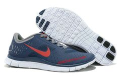 brand new c57a0 e4d8e Midnight University Red Charcoal White Nike Free 4.0 V2 Men s Running Shoes  All Nike Shoes,