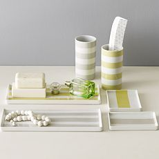 west elm - modern stripes trays and tumblers