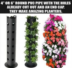 Lowes sells the 4 to 6 round PVC pipe with holes already drilled
