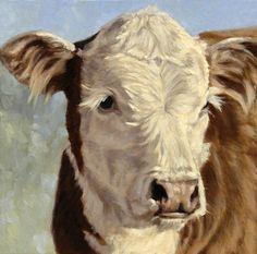 Denise Rich | OIL | Hereford Calf Portrait
