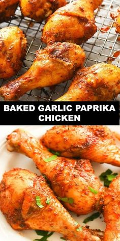 The World's Most Delicious Cake Baked Garlic Paprika Chicken Prep Time 15 mins Cook Time 50 mins Total Time 1 hr 5 mins Paprika Chi. Chicken Drumstick Recipes, Grilled Chicken Recipes, Grilled Meat, Baked Chicken, Chicken Legs, Keto Chicken, Grilling Recipes, Meat Recipes, Dinner Recipes