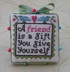 "Prairie Schooler Freebie ""A friend"""