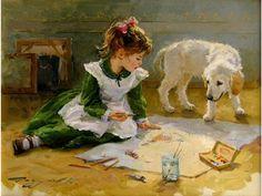 """""""The Little Artist"""" -- by Konstantin Razumov (b.1974, Russian)"""