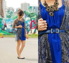 Wagw Cardigan, Wagw Royal Blue Dress