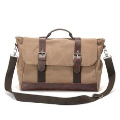 39e50e7734ec European tide restoring ancient ways canvas bag men s fashion one shoulder  inclined shoulder bag business laptop briefcase-in Totes from Luggage   Bags  on ...
