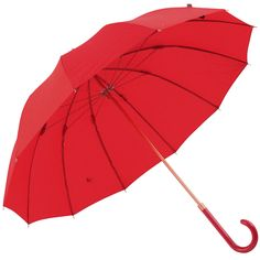 12 Rib Walker Umbrella with Bronzed Frame by M&P - Scarlet (also Indigo and lilac grey) - Brolliesgalore. 12-rib Walking Length Umbrella. With 12 fibreglass ribs, this umbrella benefits from extra protection and strength, as well as being lightweight to carry. Features a matching coloured gloss handle. Rubberised black crook handle.