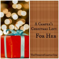 Christmas gift ideas: A Camper's Christmas List: For Her - The Touring Camper