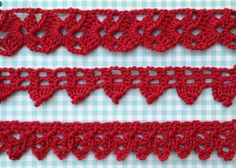 Crochet Edgings worked in short rows as needed eliminating beginning chain guesswork. Patterns and excellent directions AND diagrams