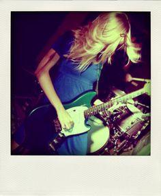 Green Fender Mustang