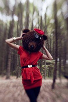 Human Size Bear Head @ SashaPokrass on Etsy
