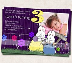 Max and Ruby Birthday Party Invitations
