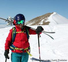Brittany Walker Konsella climbing South Diamond Peak.