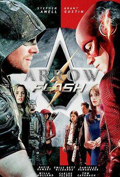 Arrow and The Flash CW amazing fan art poster #Flarrow #TheFlash #Arrow