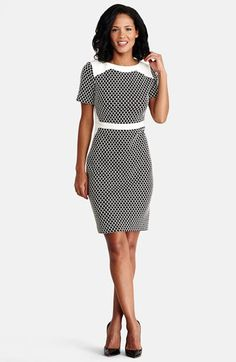 #Donna Morgan             #Dresses                  #Donna #Morgan #Novelty #Knit #Sheath #Dress #(Regular #Petite)               Donna Morgan Novelty Knit Sheath Dress (Regular & Petite)                                               http://www.snaproduct.com/product.aspx?PID=5295346