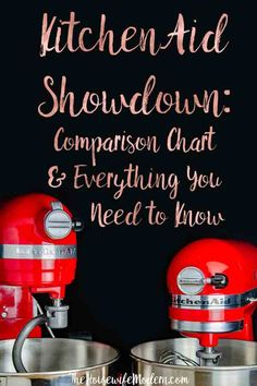KitchenAid Showdown: Comparison Chart & Everything You Need to Know. What you need to know before you buy. Kitchen Aid Recipes, Kitchen Hacks, Kitchen Aide, Kitchen Rules, Kitchenaid Mixer Reviews, Kitchenaid Stand Mixer, Slate Appliances, Kitchen Appliances, Kitchens