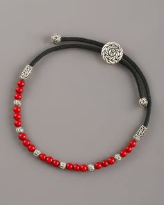 Coral Bead Bracelet by John Hardy at Neiman Marcus.