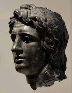 Head of Alexander the Great Bronze. Greek or Roman. Late Hellenistic to Hadrianic, ca. (New York, Metropolitan Museum of Art. Ancient Egyptian Art, Ancient Rome, Ancient Greece, Ancient History, Art History, European History, Ancient Aliens, American History, Rome Antique