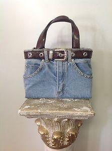Jeans Denim Classic Style Bag Purse Belt Silver Buckle Syuds Designer Fashion   eBay