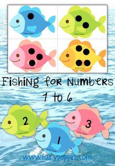 Numbers Preschool, Preschool Lessons, Preschool Classroom, Fish Activities, Preschool Activities, Ocean Games, The Ocean, Underwater Theme, Ocean Unit