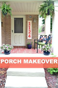 Front Porch Makeover On A Budget Porch Makeover Curb Appeal And - Front porch makeover ideas